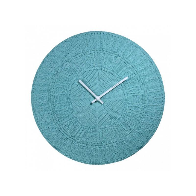 """Часы - """"подушка"""", цвет бирюзовый, d.50 см"""