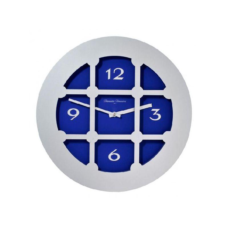 В ал/син часы настенные d.40