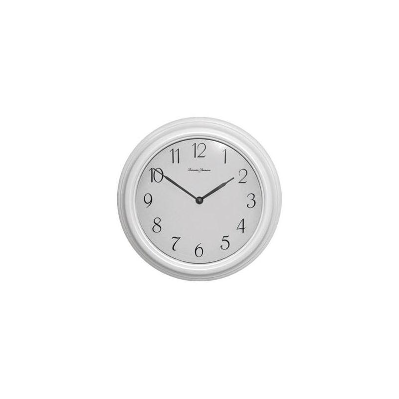 Белые часы настенные d.27