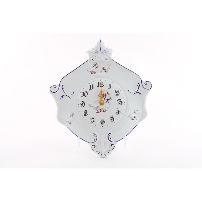 Часы насетн. гербовые 27см, форма мэри энн, 0807, Фарфор, leander