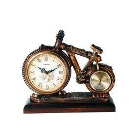 Часы настольные с термометром велосипед