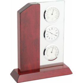 Часы настольные с термометром и гигрометром A9109