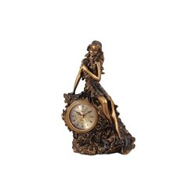 Часы настольные Девушка с букетом