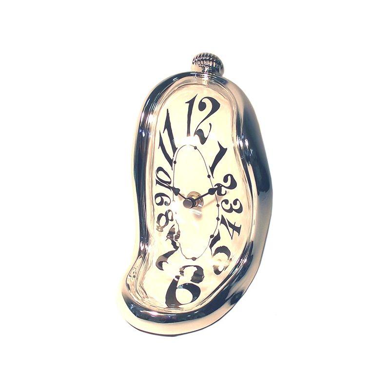 Часы стекающие настольные в никелированном корпусе