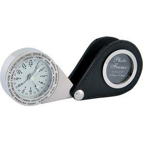 Часы дорожные с рамкой для фото 85483-01