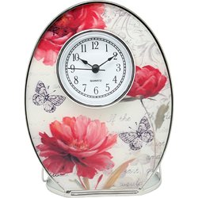 "Часы Jardin D'Ete  ""Маки"", сталь, стекло, пластик, 12 х 6 х 4 см"