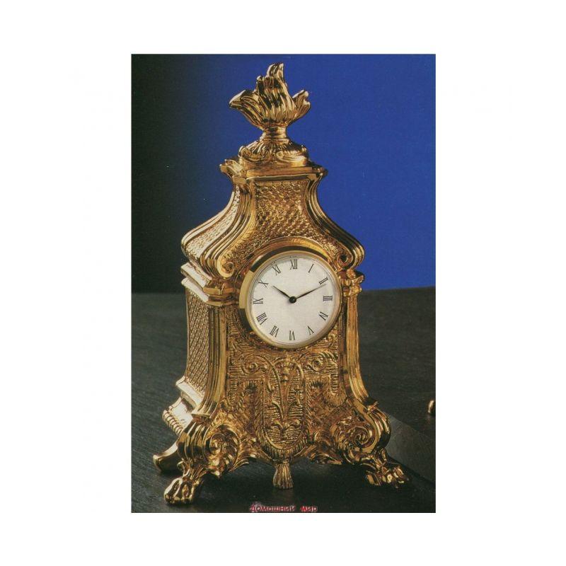 Часы кварцевые позолоченная бронза