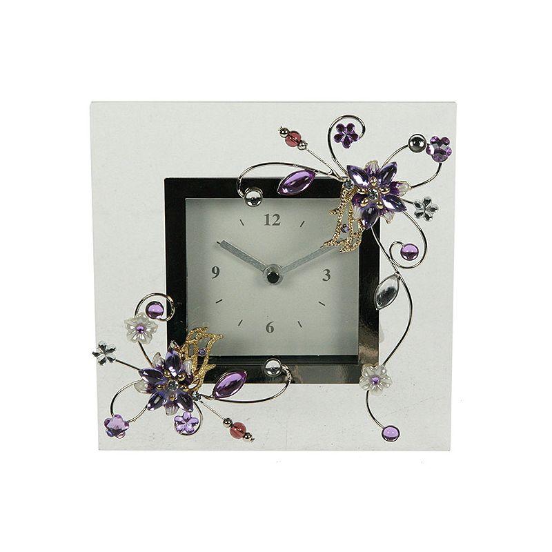 Часы Фиалка 14*14см