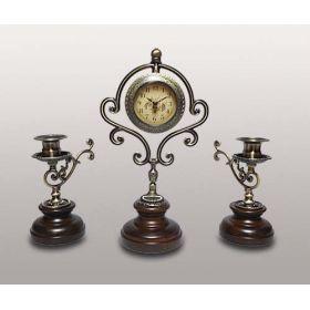 (KIT) Набор-часы с 2 подсвечниками