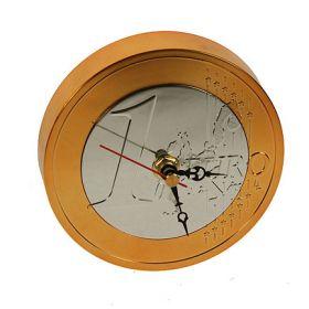 Часы Евро настольные, d12см