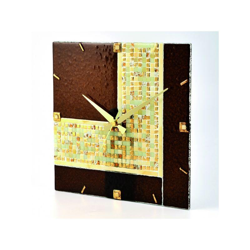 Часы, 12х12 см, настольные, золото греции