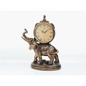 """Часы настольные """"индийский слон"""" h39,5см. l26см. (батарейка-1""""аа"""") (без подарочной упаковки)"""