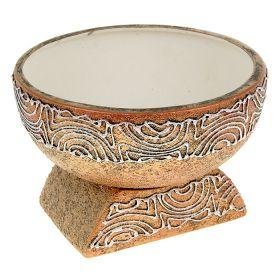 Кашпо Юпитер золото керамика
