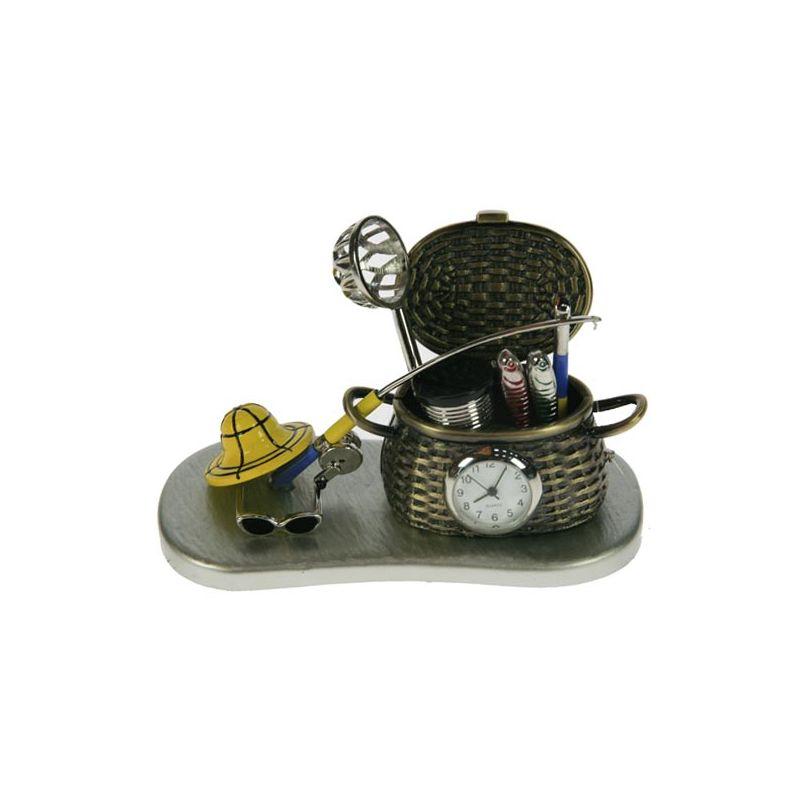 Часы настольные рыбалка