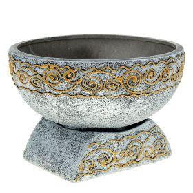 Кашпо Юпитер серебро керамика