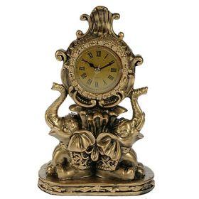 Часы настольные слоны 20*9*24см