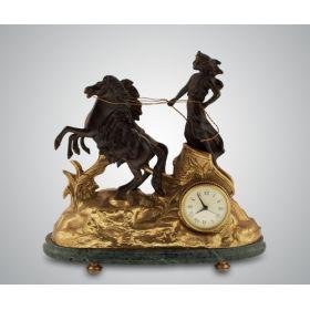 Часы ''афина'' (бронза/мрамор-зеленый)