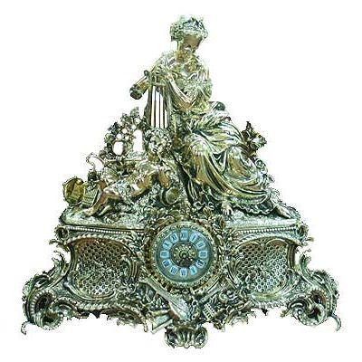 Часы каминные, бронза 60см