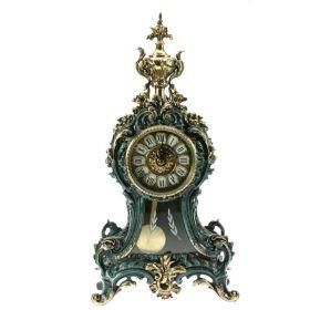 Часы каминные с маятником, бронза 50*26*15см