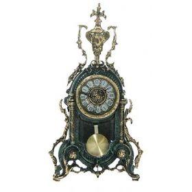 Часы каминные с маятником, бронза 40*22см