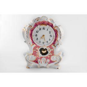 Часы каминные 32см, форма, 6998, Фарфор, leander