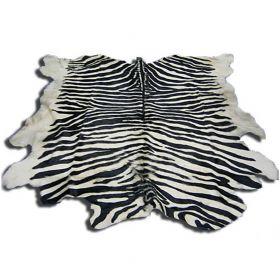 Шкура под зебру бело-черная