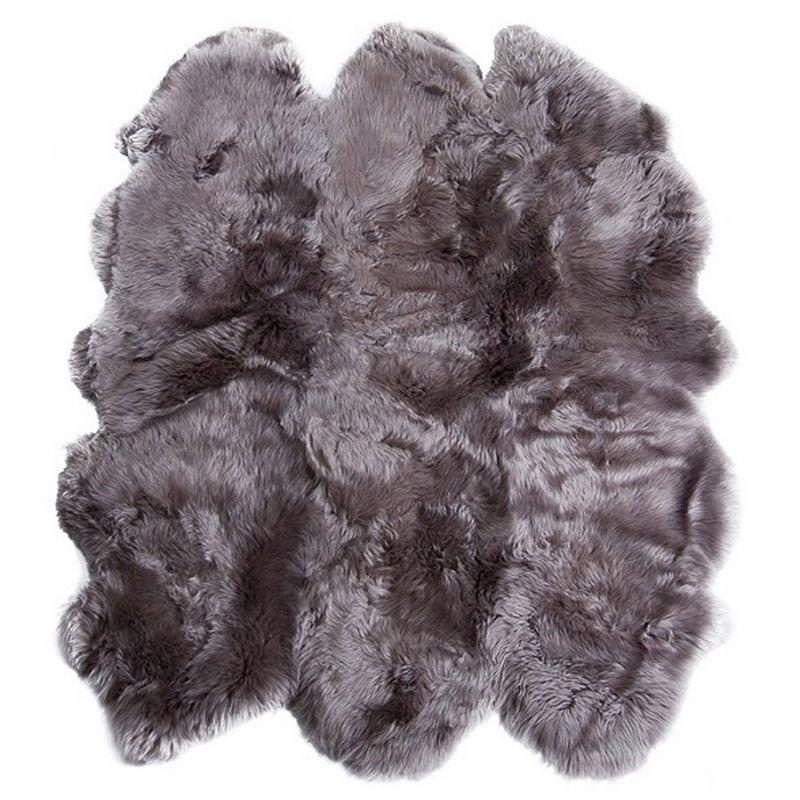 Шестишкурная новозеландская овчина серый
