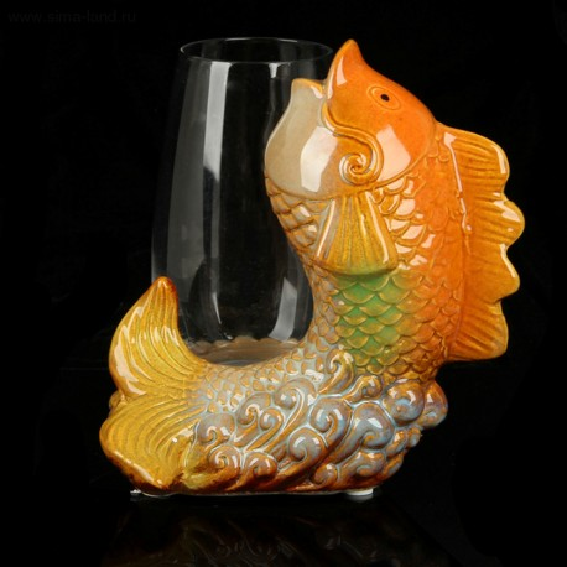 """Вазон """"Золотая рыбка с вазоном"""""""