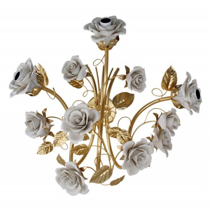 """Бра на три лампы """"Белые розы"""", золото"""