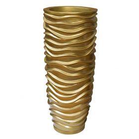 Кашпо напольное золотое