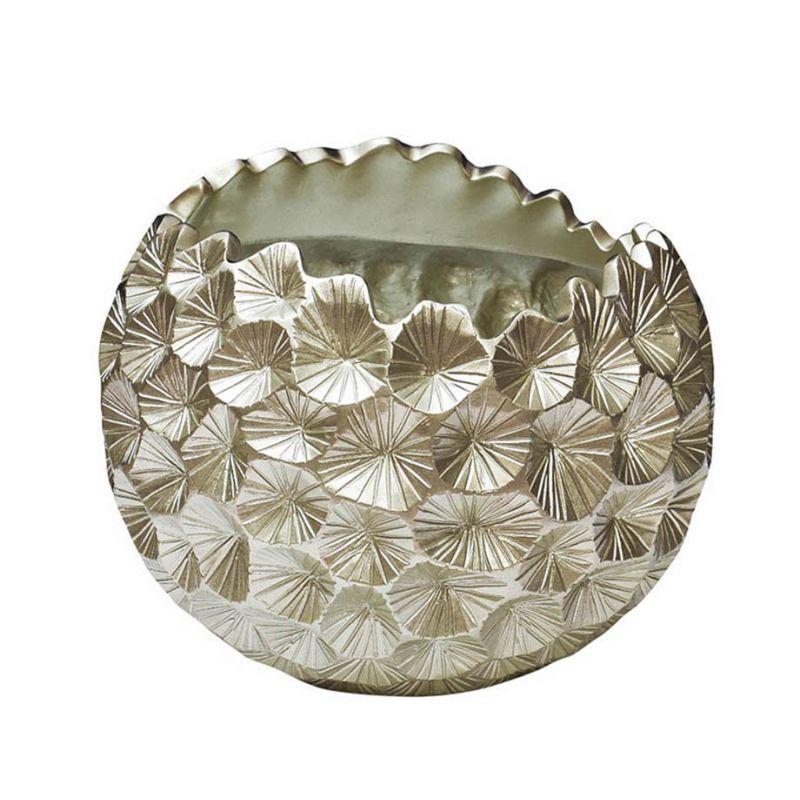 Кашпо серебряное