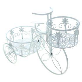 Цветочница велосипед 2 яруса цветы
