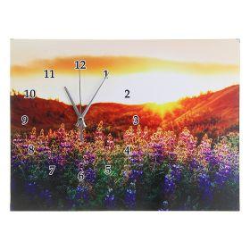 """Часы настенные """"Цветы на закате"""""""
