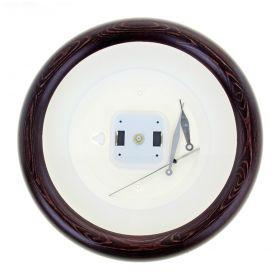 Часы-конструктор под нанесение круглые, темно-коричневые