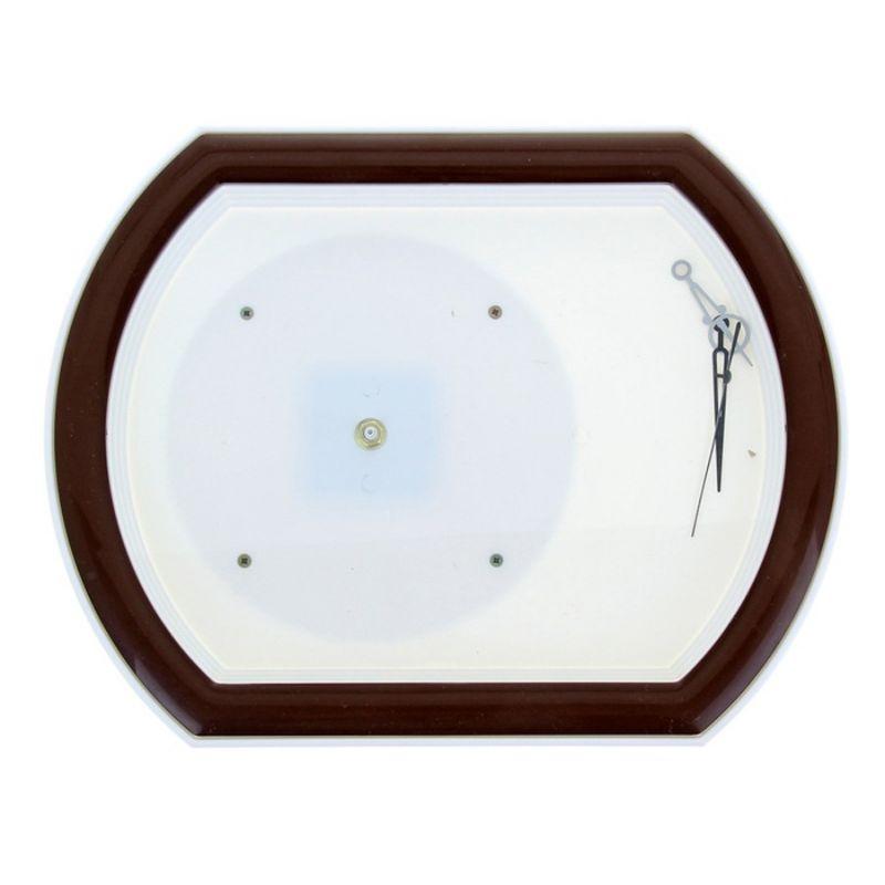 Часы-конструктор под нанесение прямоугольные, коричневые
