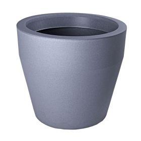 "Кашпо декоративное 90 л ""Чаша"", цвет серебристый металл"