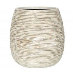 Кашпо Capi Nature Planter Rib ball ivory