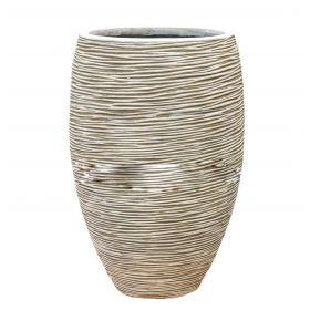 Кашпо Capi Nature Vase elegant deluxe Rib ivory