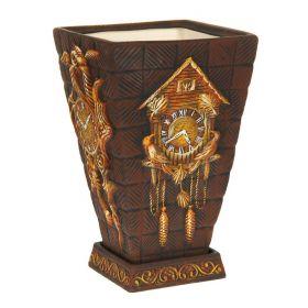 """Кашпо ''Старинные часы"""" коричневое, акрил 19 л"""