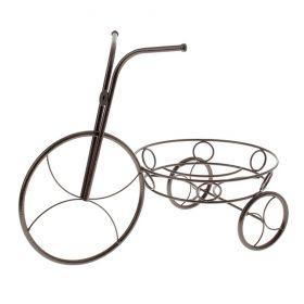 """Подставка для цветов """"Велосипед"""", медный антик диаметр-23,5 см"""