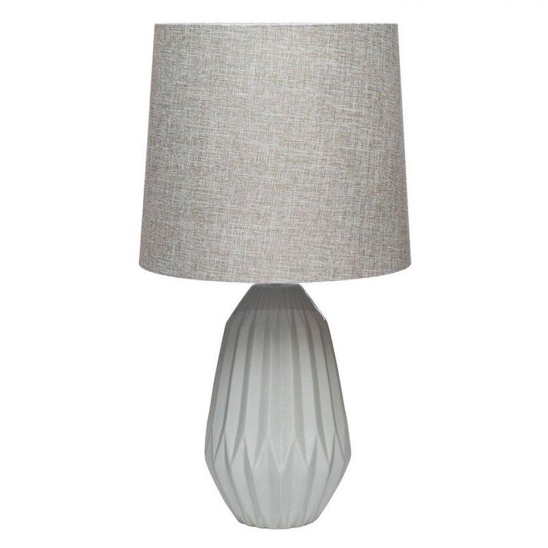 Лампа керамическая серая настольная