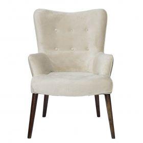 Кресло велюровое бежевое