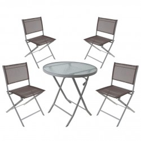 Набор мебели для дачи и отдыха (стол 70х71 см, 4 стула 56х45х80 см)
