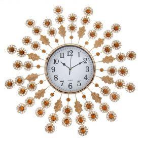 Часы настенные серия Ажур, декоративные камни,белый циферблат