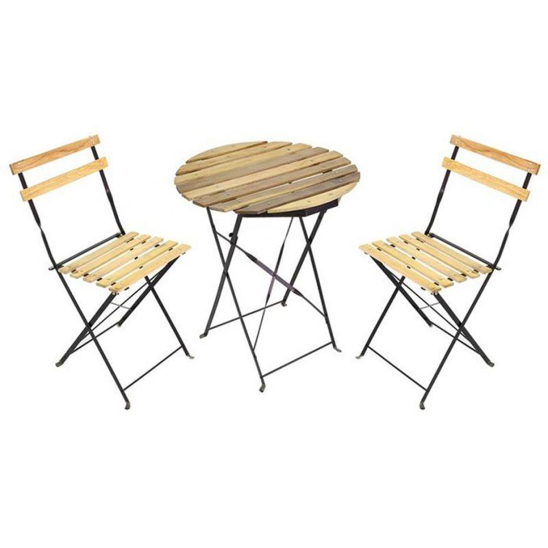 Набор складной мебели: 2 стула, 1 стол, 46х56х85 см/60х71 см