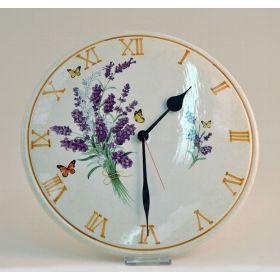 Часы настенные круглые, 32см Лаванда