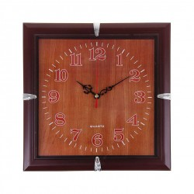 Часы настенные квадрат, циферблат дерево 26х26см