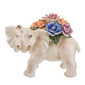 """Статуэтка """"Слон с цветами"""""""