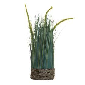 Сухоцвет вейник зеленый на плетенной основе