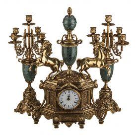 Часы и 2 подсвечника